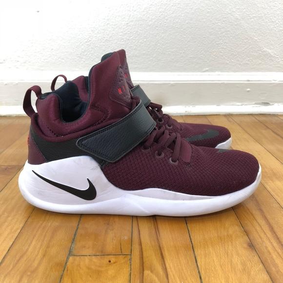 Nike Kwazi Maroon Black High Top Sneakers  BN . M 5aa7414f6bf5a6b9376639b3 f4637c59d